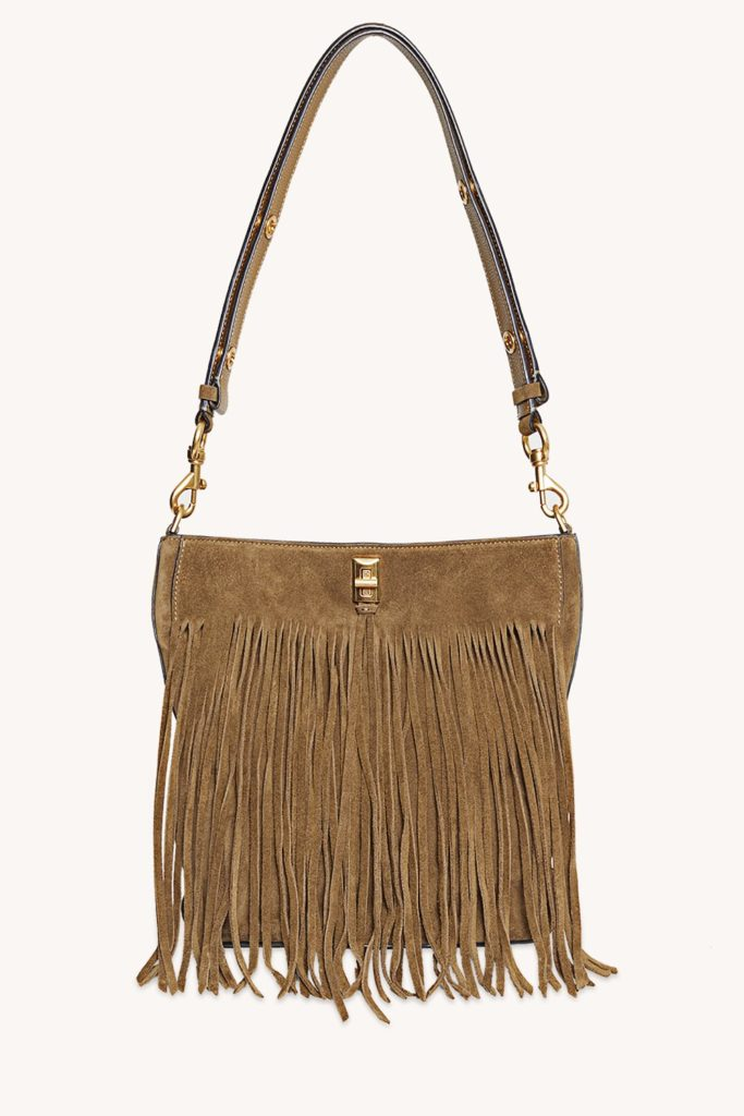 rebecca minkoff darren bucket bag with fringe
