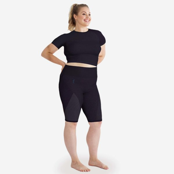Metail feat.FASHION Loungewear Athleisure Short Charcoal